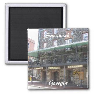Savannah, Georgia 2 Inch Square Magnet