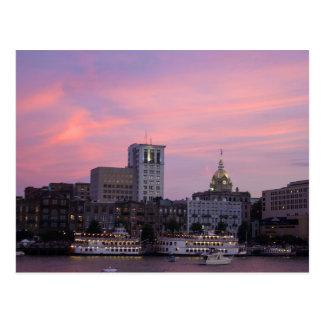 Savannah, Georgia at Sunset Postcard