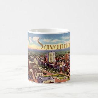 Savannah, Georgia Birdseye View 1940 Coffee Mug
