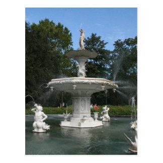Savannah Georgia Forsyth Fountain Postcards