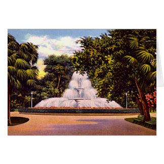 Savannah, Georgia Forsyth Park Fountain Card
