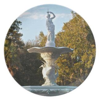 Savannah Georgia Forsyth Park | Fountain Dinner Plate