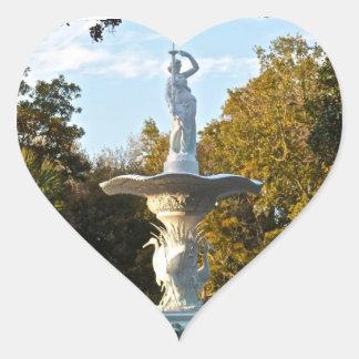 Savannah Georgia Forsyth Park Fountain Heart Sticker