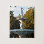 """Savannah Georgia Forsyth Park Fountain Jigsaw Puzzle<br><div class=""""desc"""">Travel photo shows one the famous landmarks of the beautiful southern city of Savannah Georgia- the Forsyth Park fountain. Everyone wants to relax in this peaceful park. Perfect gift for those that love Savannah,  GA,  southerners,  Georgia natives,  and those that like fountains,  sculpture,  fine art,  and architectural art.</div>"""