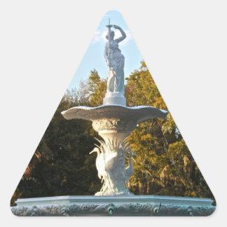 Savannah Georgia Forsyth Park Fountain Triangle Sticker