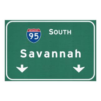 Savannah Georgia ga Interstate Highway Freeway : Photo Print
