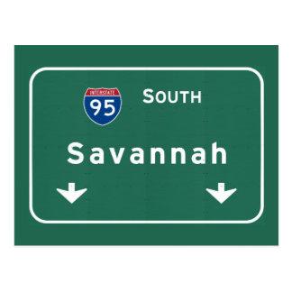Savannah Georgia ga Interstate Highway Freeway : Postcard