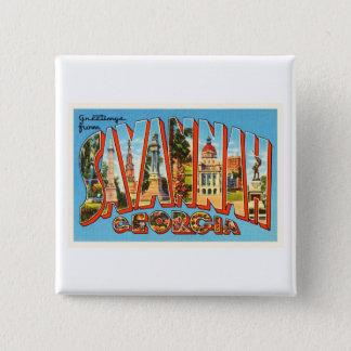 Savannah Georgia GA Old Vintage Travel Souvenir Button