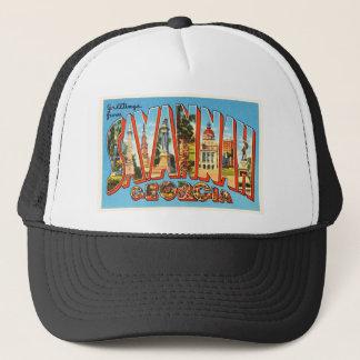Savannah Georgia GA Old Vintage Travel Souvenir Trucker Hat