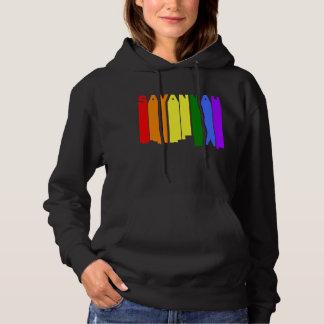 Savannah Georgia Gay Pride Rainbow Skyline Hoodie