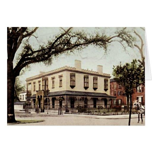 Savannah, Georgia Green Meldrim Mansion Greeting Card