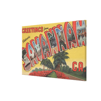 Savannah, Georgia (Historic) - Large Letter Canvas Print