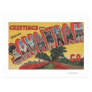 Savannah, Georgia (Historic) - Large Letter Postcard
