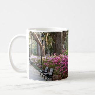 Savannah Georgia in Spring Forsyth Park Azaleas Oa Classic White Coffee Mug