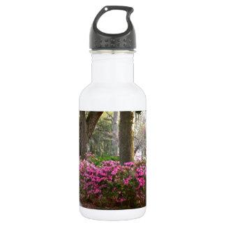 Savannah Georgia in Spring Forsyth Park Azaleas Oa Water Bottle