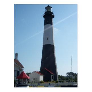 Savannah Georgia Lighthouse Postcard