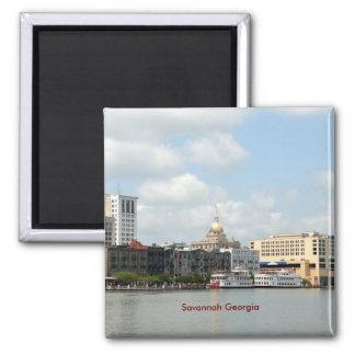 Savannah Georgia 2 Inch Square Magnet