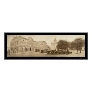 Savannah, Georgia Photo 1909 Poster