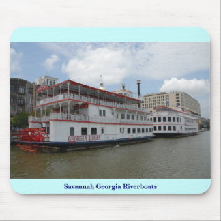 Savannah Georgia Riverboats Mouse Pad