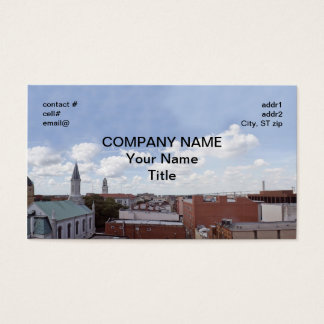 Savannah Georgia skyline Business Card