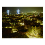 Savannah Georgia Skyline Poster