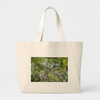 savannah georgia spanish moss trees plants streets large tote bag