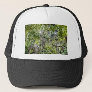 savannah georgia spanish moss trees plants streets trucker hat