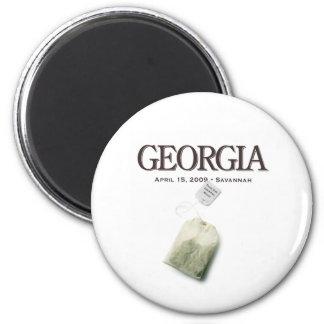 Savannah Georgia Tea Party 2 Inch Round Magnet