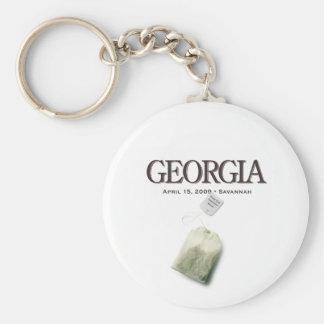 Savannah Georgia Tea Party Keychain