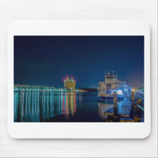 savannah georgia town usa waterfront evening river mouse pad