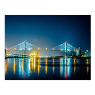 savannah georgia town usa waterfront evening river postcard