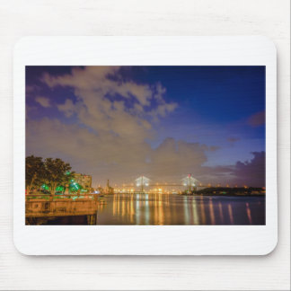 savannah georgia town  waterfront evening river hi mouse pad