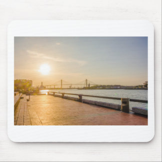 savannah georgia town waterfront  river historic c mouse pad