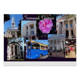 Savannah Georgia Travel Collection Poster