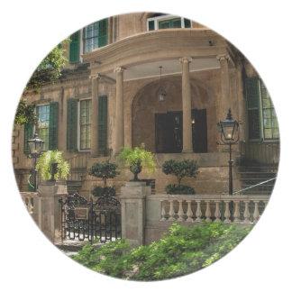 Savannah Georgia Victorian Historical House 2 Melamine Plate