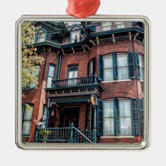 Savannah Georgia Victorian Historical House Metal Ornament