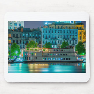 savannah georgia waterfront night scene historic o mouse pad