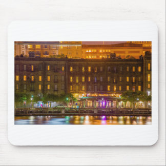 savannah georgia waterfront night scene mouse pad