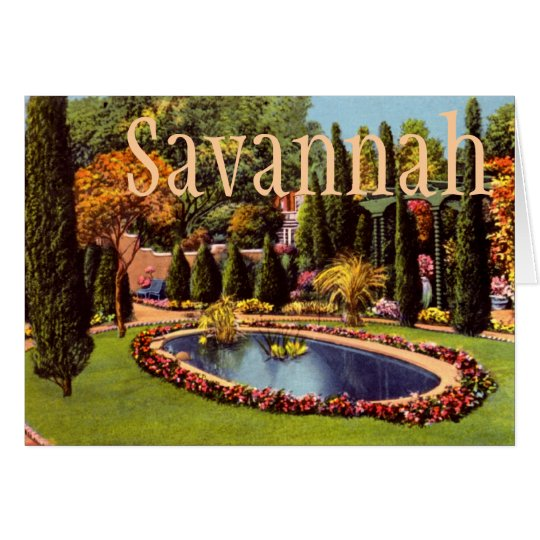 Savannah, Georgia Wormsloe Plantation Card