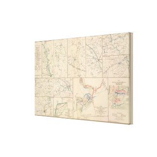 Savannah Goldsborough campaign maps Canvas Print
