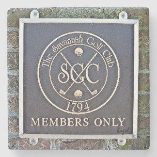 Savannah Golf Club, Marble Stone Coaster. Stone Coaster