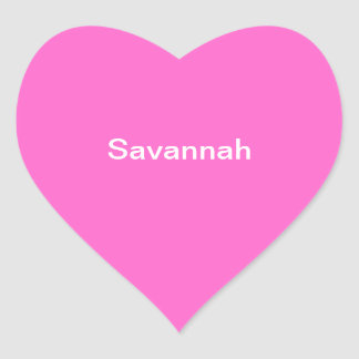 Savannah Kids Name Sticker Personalized Pink White