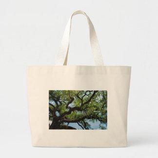 Savannah Live Oak And Spanish Moss Large Tote Bag