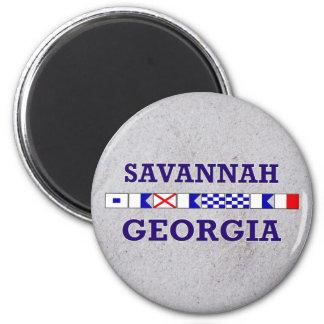 Savannah Nautical Flag - Sandy Magnet