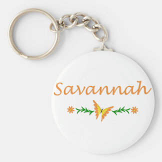 Savannah (Orange Butterfly) Basic Round Button Keychain