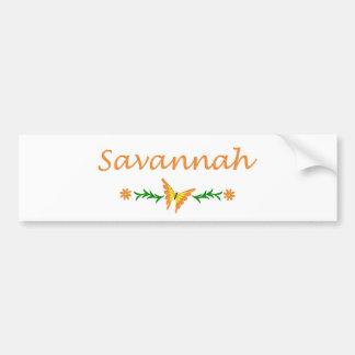 Savannah (Orange Butterfly) Bumper Sticker