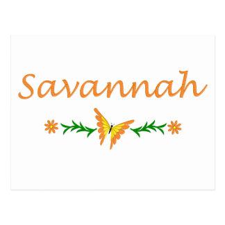 Savannah (Orange Butterfly) Postcard