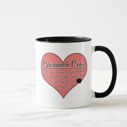 Savannah Paw Prints Cat Humor Mug