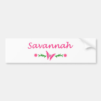 Savannah (Pink Butterfly) Bumper Stickers