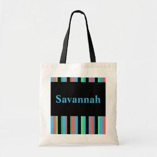 Savannah Pretty Striped Tote Bag